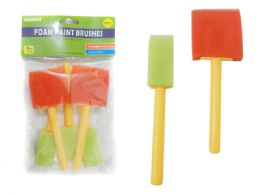 144 of 5 Piece Foam Paint Brushes
