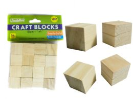 96 Units of 16 Pc Wood Craft Blocks - Craft Wood Sticks and Dowels