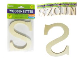 144 Units of Decorative Wooden Letter - Craft Wood Sticks and Dowels
