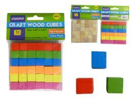 96 Units of 36 Piece Cube Craft Wood - Craft Wood Sticks and Dowels