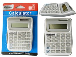 96 Wholesale Calculator In White / Grey