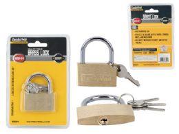 96 Units of 50mm Locks Brass - Padlocks and Combination Locks