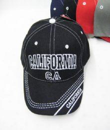 "36 Units of ""california"" Kids Cap Assorted Colors - Kids Baseball Caps"