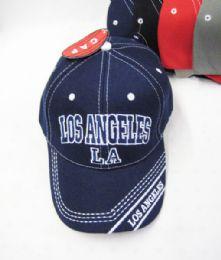 "36 Units of ""los Angeles"" Kids Cap Assorted Colors - Kids Baseball Caps"