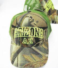 "36 Units of ""arizona"" Kids Camo Cap Assorted Colors - Kids Baseball Caps"