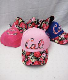 "48 Units of ""california "" Floral Ball Cap - Kids Baseball Caps"