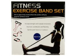 6 Units of Fitness Exercise Band Set With Storage Bag - Workout Gear
