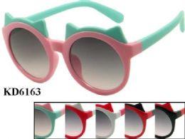 48 of Kids Plastic Frame Sun Glasses Assorted Color
