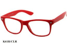 48 Units of Kids Large Plastic Eye Glasses Red - Eyeglass & Sunglass Cases