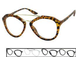 48 Units of Clear Lens Large Plastic Eye Glasses - Eyeglass & Sunglass Cases