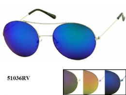 48 Wholesale Round Metal Sunglasses Assorted