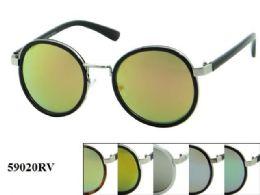 48 Wholesale Round Plastic Rv Sunglasses Assorted