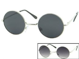 48 Wholesale Round Metal Sunglasses