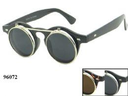 48 Wholesale Round Retro Style Sunglasses Assorted