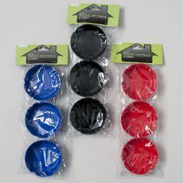 72 Units of 3 Pack 3in Round Melamine Ashtray - Ashtrays