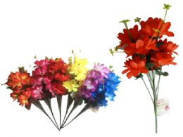 144 Bulk 9 Head Flower Bouquet