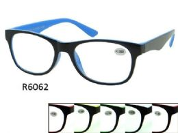 48 of Two Tone Plastic Reading Glasses Assorted