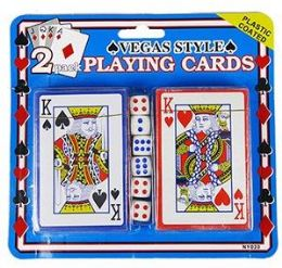 36 Bulk 2 Pack Vegas Style Playing Cards & Dice