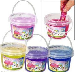 36 Units of Large Magic Clay Slimes W/ Fruit Confetti - Clay & Play Dough