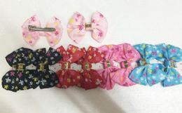 144 Units of Girls Floral Assorted Colored Hair Clip - Hair Accessories