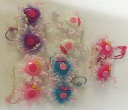 60 Units of Strawberry Hair Band - PonyTail Holders