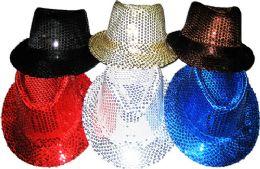 24 Units of Sequin Fedora Hat color Assorted - Fedoras, Driver Caps & Visor