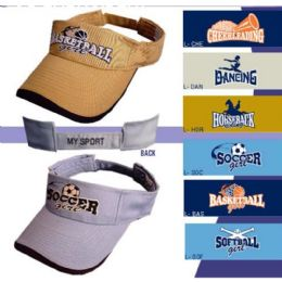 500 Wholesale Embroidered Sports Visors