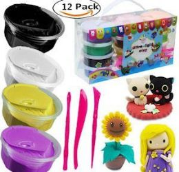 12 Units of Magic Modeling Clay Kit - Clay & Play Dough