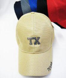 "36 Units of Kid's ""texas"" Base Ball Cap - Kids Baseball Caps"