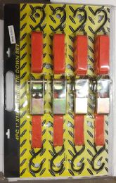24 Units of 4 Piece Ratchet Tie down - Ratchets