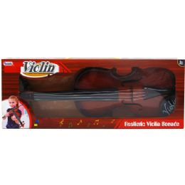 24 Bulk Violin Play Set With Bow In Window Box