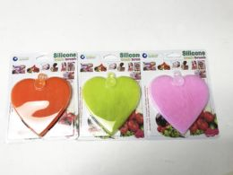 60 Bulk Silicone Wash Brush Heart Shaped/color Assorted
