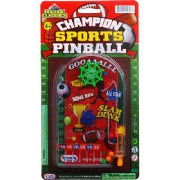 96 Units of Mini Sports Pinball Game On Blister Card - Magic & Joke Toys