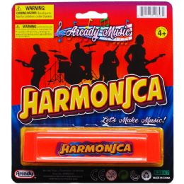 144 Bulk Harmonica Play Set On Blister Card