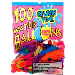 144 Bulk Assorted Water Balloon With Filler In Pegable Pp Bag