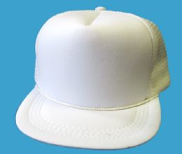 144 Wholesale Youth Mesh Blank Caps