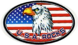 "72 Units of 5"" Wide Magnet, Usa Rocks/ Eagle, - Refrigerator Magnets"