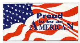 """72 Units of 4"""" X 8"""" Magnet, Proud To Be An American, - Refrigerator Magnets"""