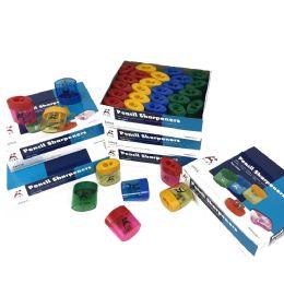 240 Bulk Dual Enclosed Pencil Sharpener In 4 Assorted Colors