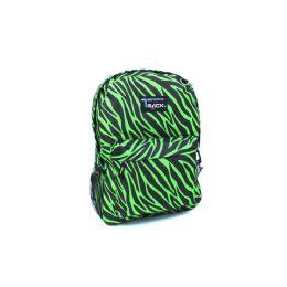 "24 Units of 16.5"" Wholesale Padded Kids Backpacks In 4 Assorted MultI-Color Zebra Prints - Backpacks 16"""