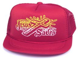 """24 Units of Infant Mesh Back """"jesus Saves"""" Hat, In Assorted Colors - Baby Accessories"""
