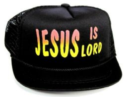 """24 Units of Infant Mesh Back """"jesus Is Lord"""" Hat In Assorted Colors - Baby Accessories"""