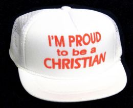 """24 Units of Infant """"i'm Proud To Be A Christian"""" Hat In Assorted Colors - Baby Apparel"""