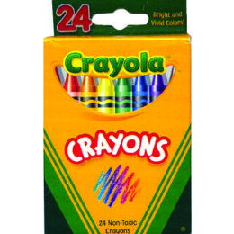 48 Wholesale Crayons - 24 Count