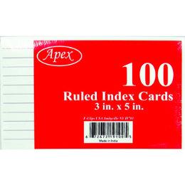 "72 Bulk 3"" X 5"" Ruled Index Cards - 100 Count"