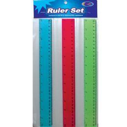 48 Units of 3 Pack Ruler Set - Rulers