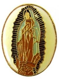 96 Units of Brass Hat Pin, Virgen De Guadalupe - Hat Pins & Jacket Pins