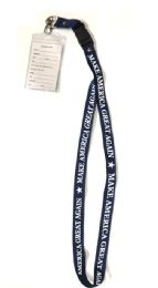 48 Units of Make America Great Again Lanyards - Navy Blue - ID Holders
