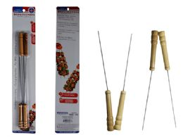 72 Units of 4 Piecec Bbq Skewers, With Wooden Handles - BBQ supplies