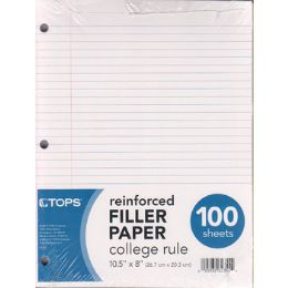 12 Units of Reinforced Filler Paper College Ruled - 100 Sheets - Paper